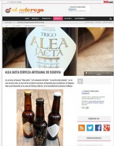 Artículo El Aderezo - Alea Jacta Cerveza Artesana de Segovia