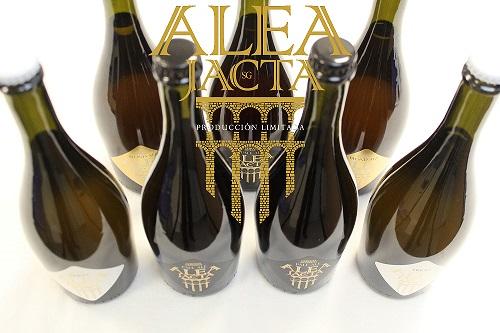Cerveza Artesana Alea Jacta 75cl - con logo AJ 500x300