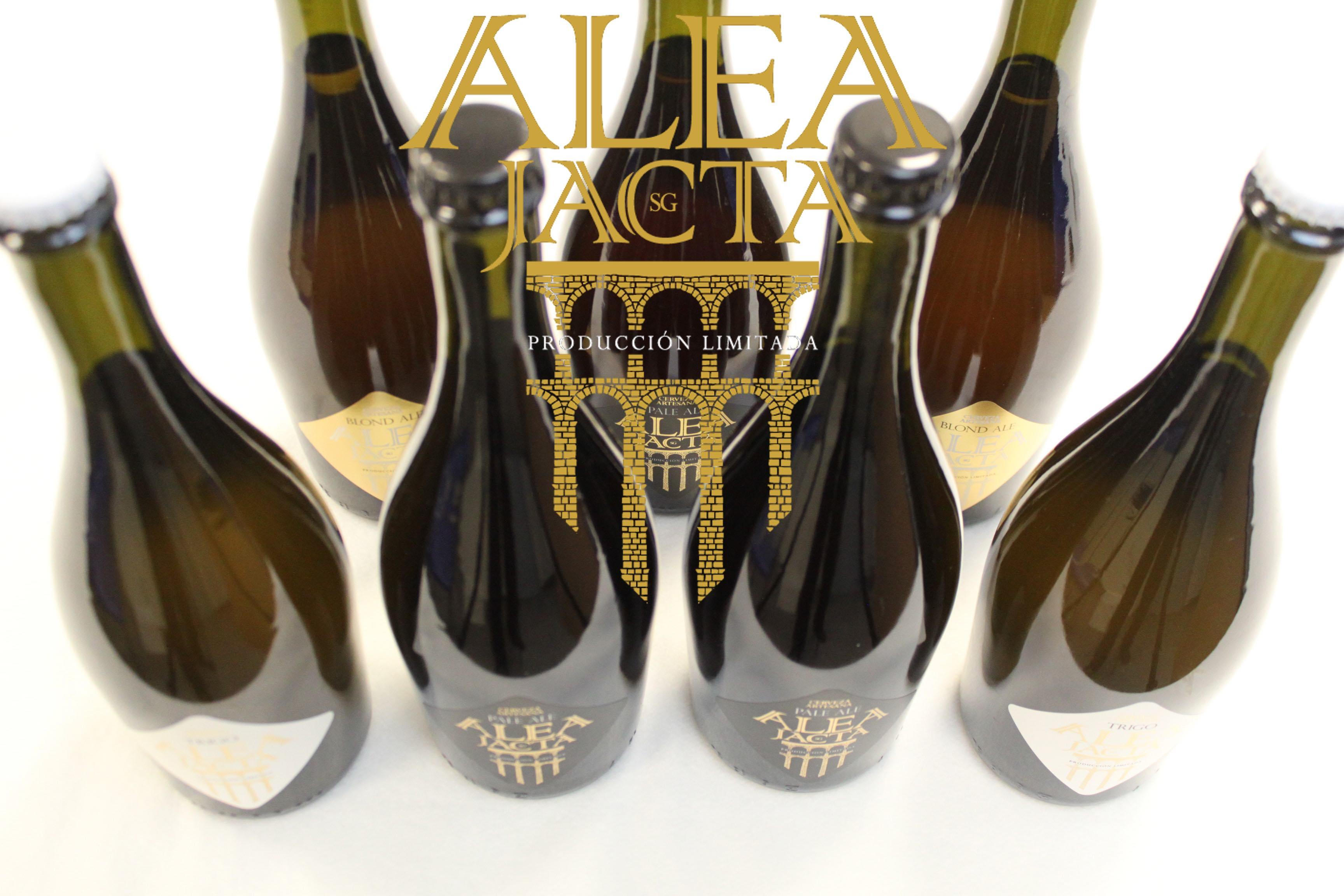 Cerveza Artesana Alea Jacta 75cl - con logo AJ _media