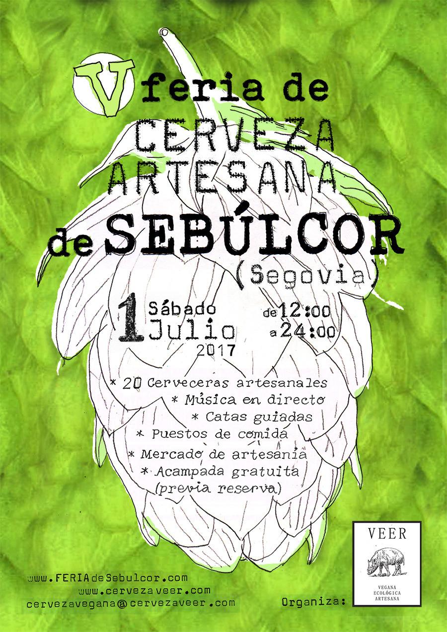Cartel V Feria de Cerveza Artesana de Sebulcor