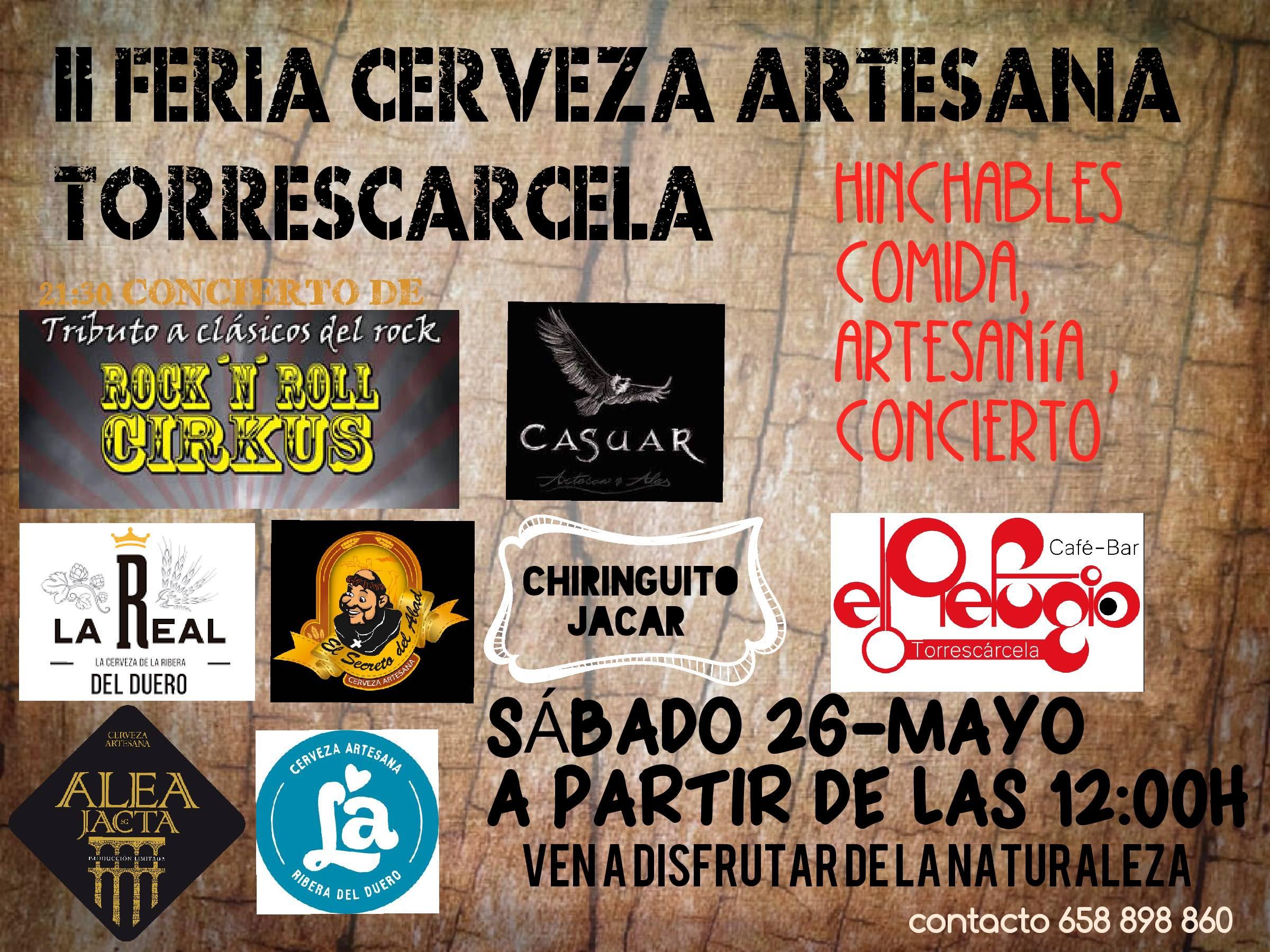 Cartel feria de la cerveza artesana de Torrescarcela 2018 Cervezas Alea Jacta